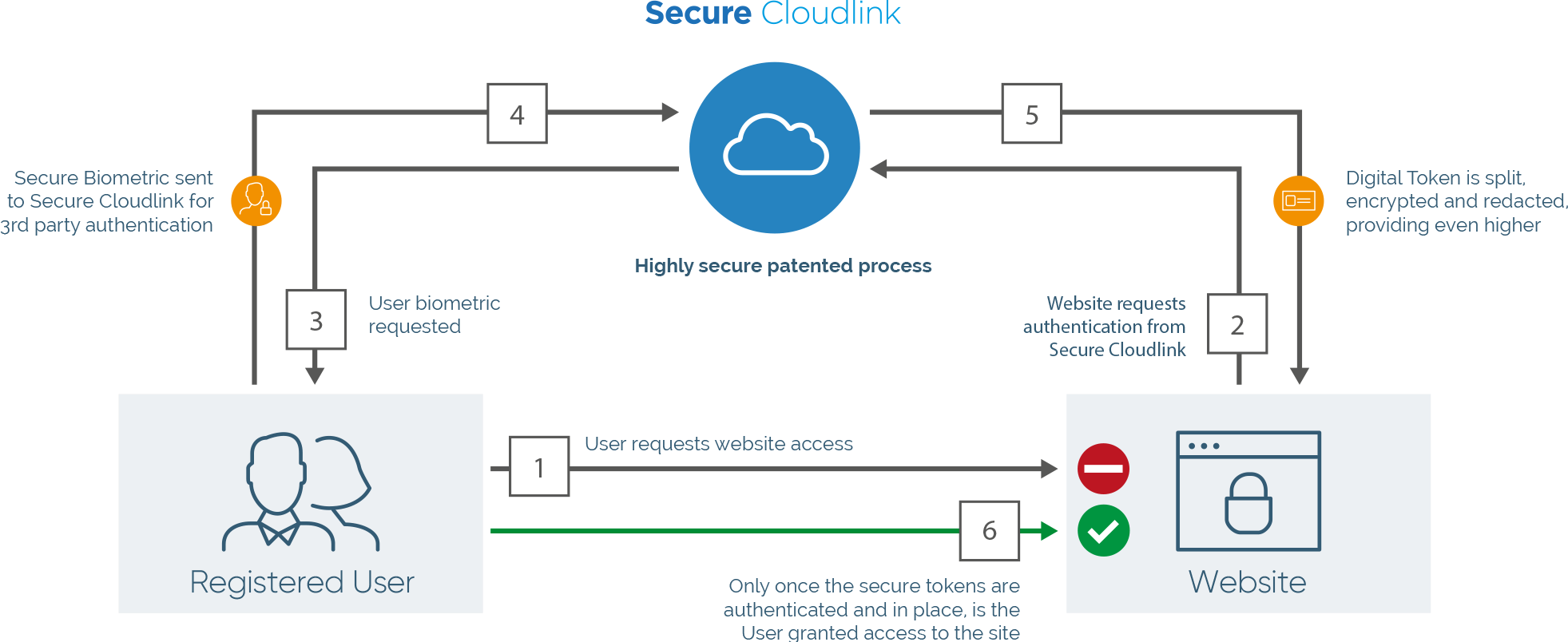 Secure Cloudlink Patented Token Security Diagram